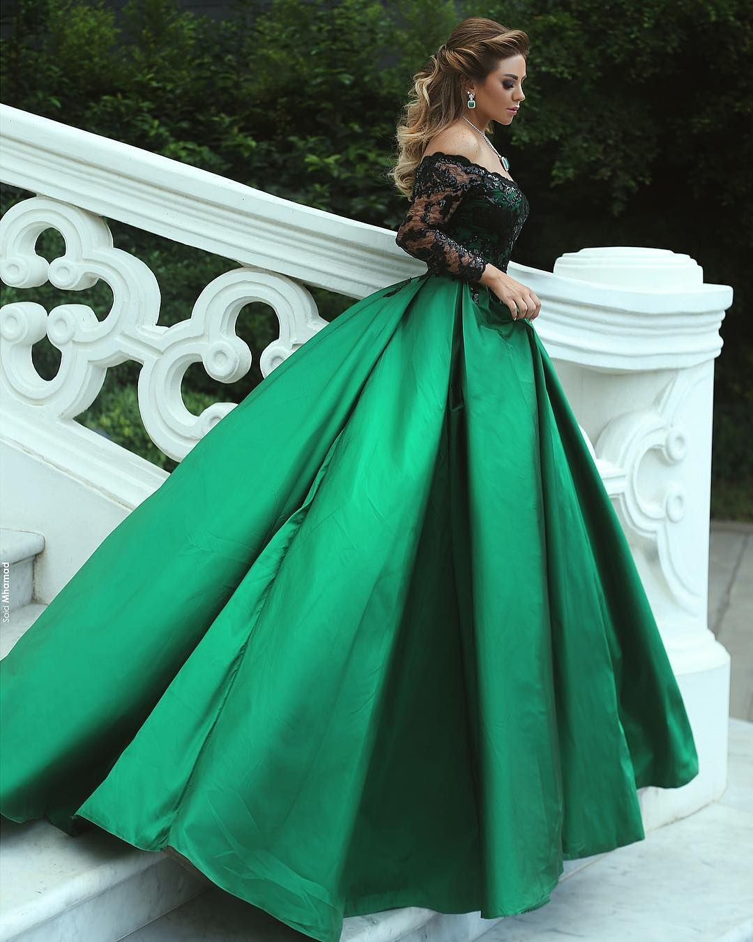 New Design Off the Shoulder Ball Gown Satin Prom Dresses 2018 Black ...