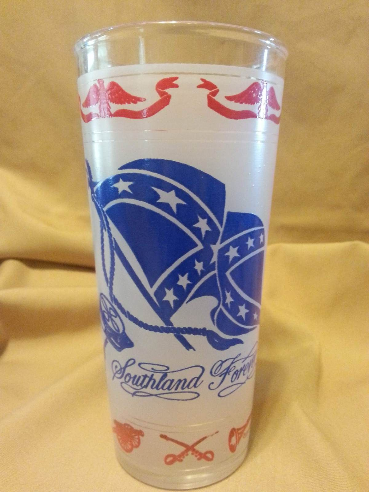 Vintage Collectible Southland Forever Dixie Drinking Glass Early