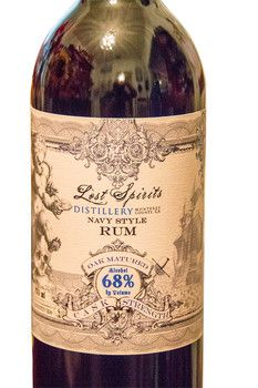 Lost Spirits NavyBryan Davis' Lost Spirits Navy Style overproof rum is a high ester formula resulting in a rich and robust rum that hearkens the days of authentic British Royal Navy rums made in Jamaica and Guyana. Style Rum from California