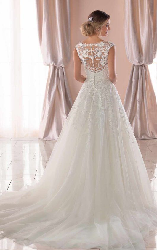 Photo of Vintage A-Line Wedding Dress with Soft Train – Stella York Wedding Dresses