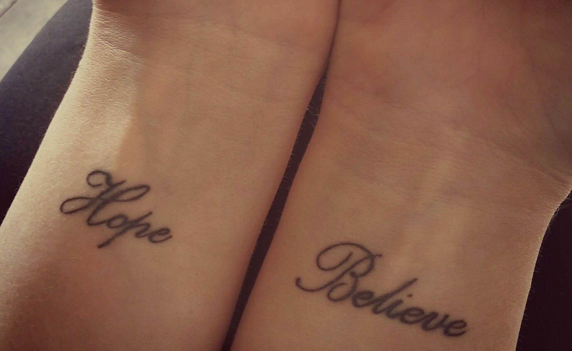 Hope Believe Tattoo Hope Believe Believe Tattoos Small Tattoos