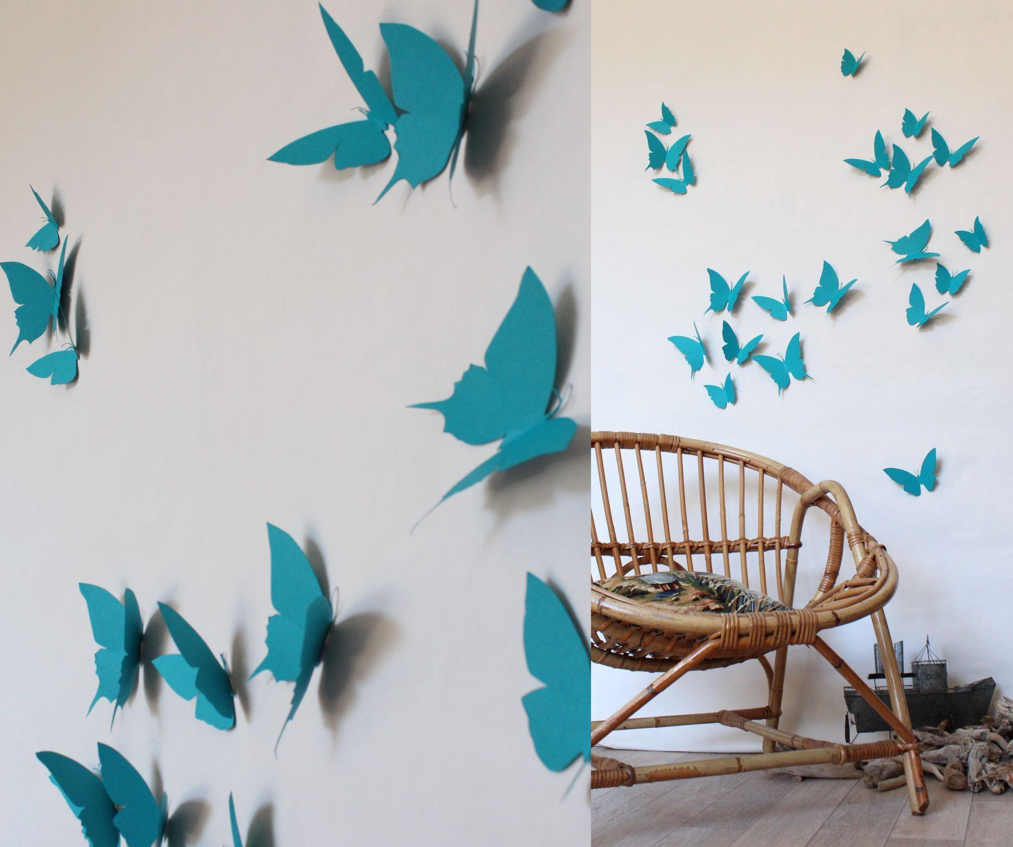 décoration papillons turquoisesTrendy Little2