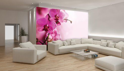 Soft Pink Orchid Flowers Wallpaper Mural Consalnet http://www.amazon ...