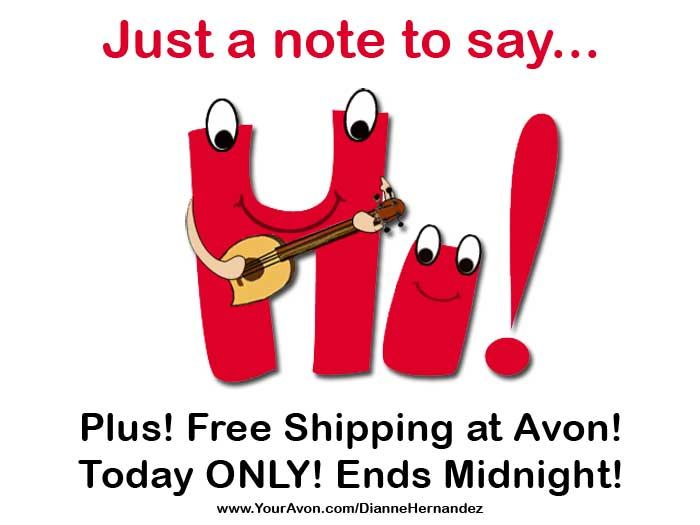 Avon #FreeShipping going on today only! (8/15/13) Click the