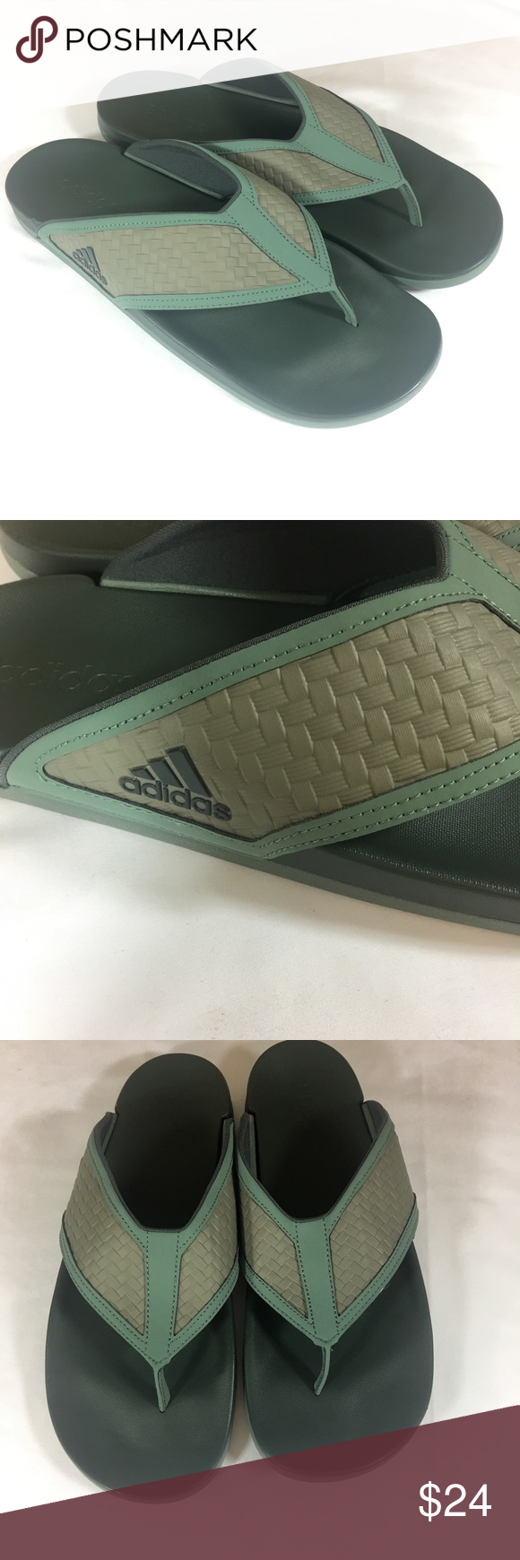 fe189629158ff Adidas Adilette Mens Flip Flop Sandals Green 12 Adidas Men s Adilette Green  Flip Flops Size 12 Adidas Shoes Sandals   Flip-Flops