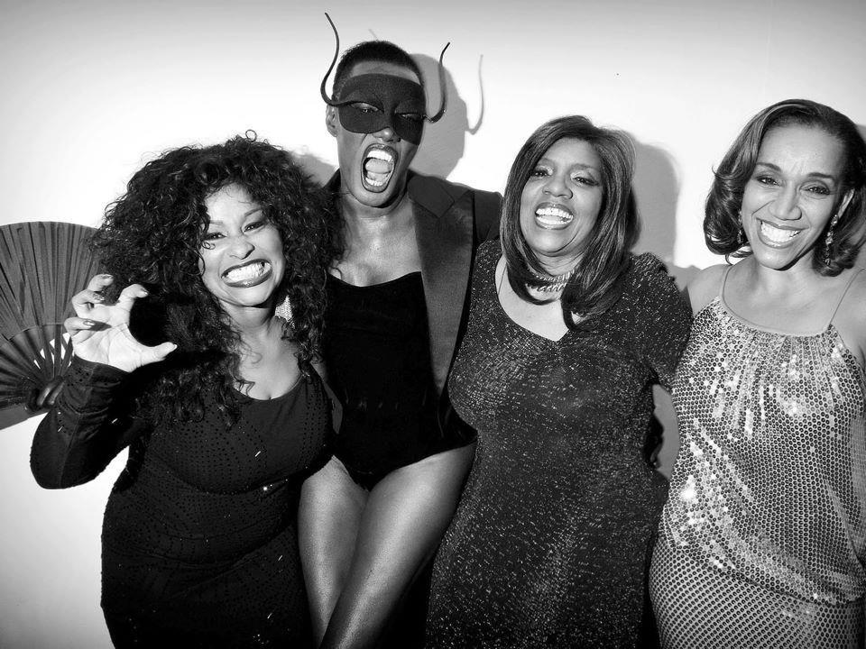 Chaka Khan, Grace Jones, Gloria Gaynor and Kathy Sledge at the ETAM runway show in Paris.♫♫♥♥♫♫♥♥☺4♥JML