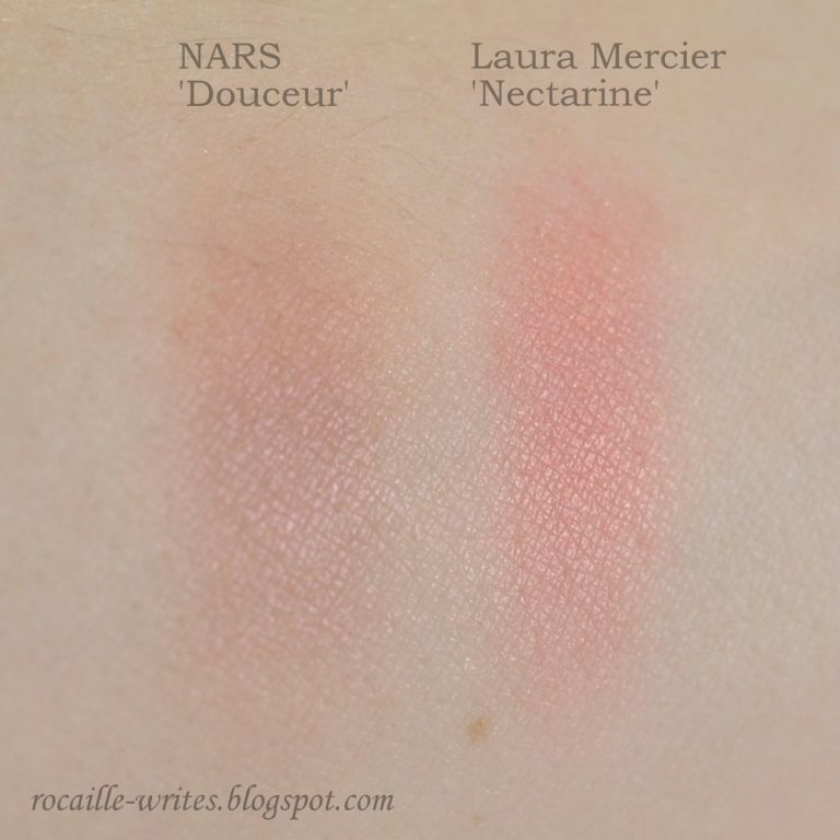 Nars Douceur and Laura Mercier Nectarine Blushes