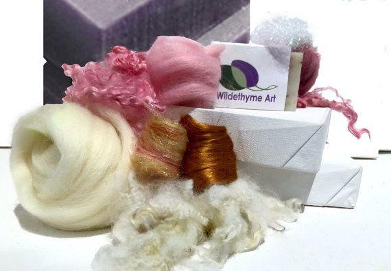 Soap Felting Kit, Felted Soap Kit, DIY Felt Craft Kit, Organic Lavender Soap, Wet Felting, Make felted soap, Beginner Felting, color choices