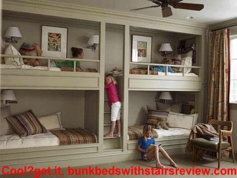 Nice Looking Built In Quadruplet Bunk Bed Bunk Beds Built In Built In Bunks Home
