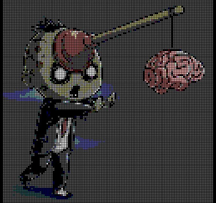 Funny Zombie Perler Bead Pattern