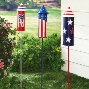 July 4th Rocket Yard Stakes, Garden Stakes, Patriotic Garden Decor Found On  Www.ThatsReallyCute.com