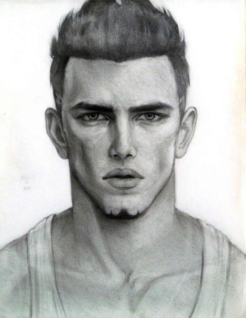 Male face sketch by jjcu on deviantart