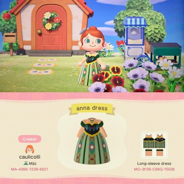 Anna from Frozen 🥰 - ACQR in 2020   Animal crossing ...