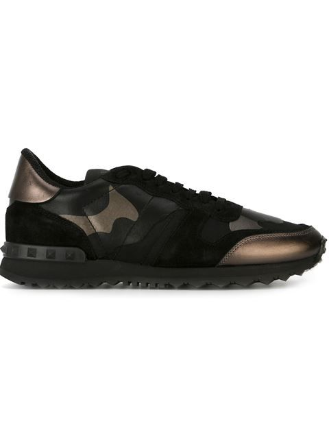 Shop Valentino Garavani Camouflage Trainer in Browns from the world's best  independent boutiques at farfetch. Black Flats ShoesBlack ...