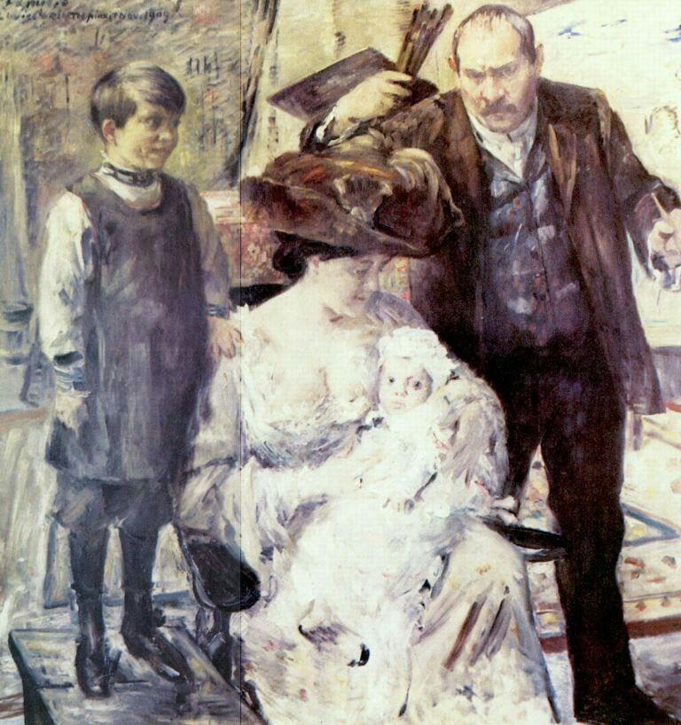 Künstler Hannover lovis corinth der künstler und seine familie familienporträt 1909
