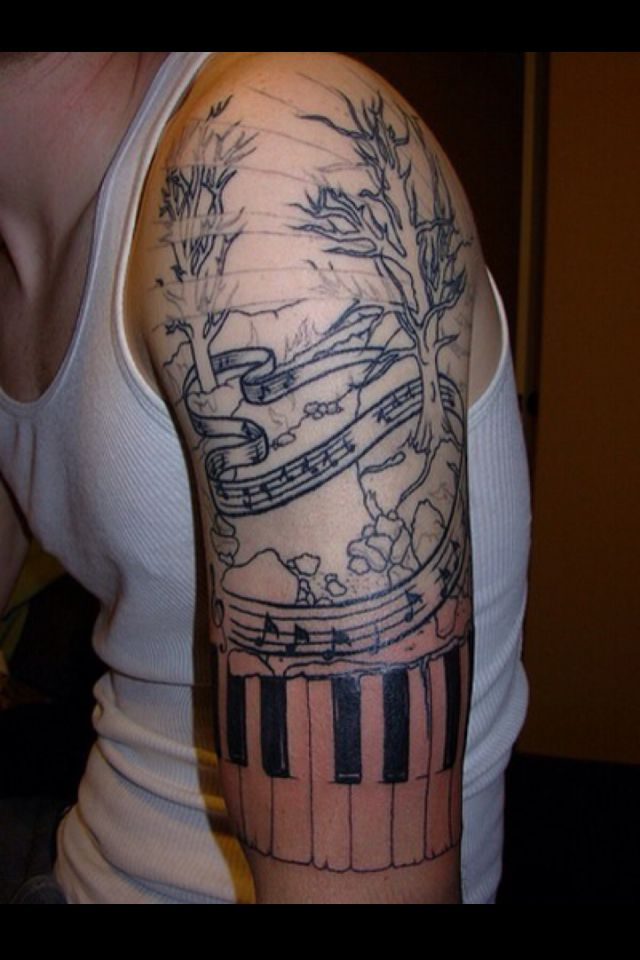 Assez Musical tattoo.love the music scale in this tattoo | tattz  HY81