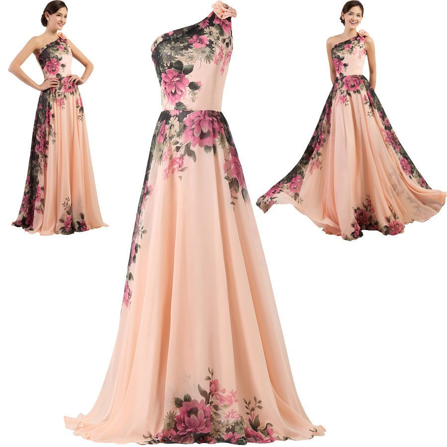 New Long Chiffon Bridesmaid Evening Formal Party Ball Gown Prom ...