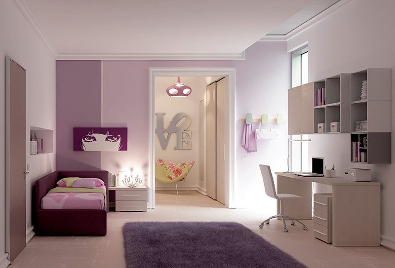 Camere per single arredamento ahhhh pb teen loft bed with for Camere per single arredamento