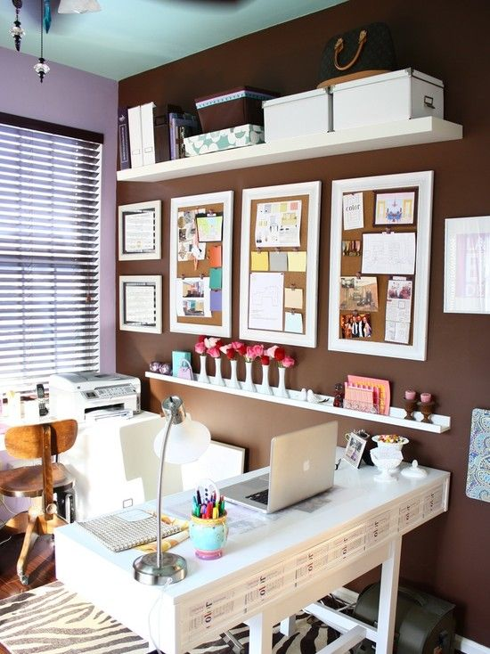Home Office With Bulletin Board Home Office Design Home Office