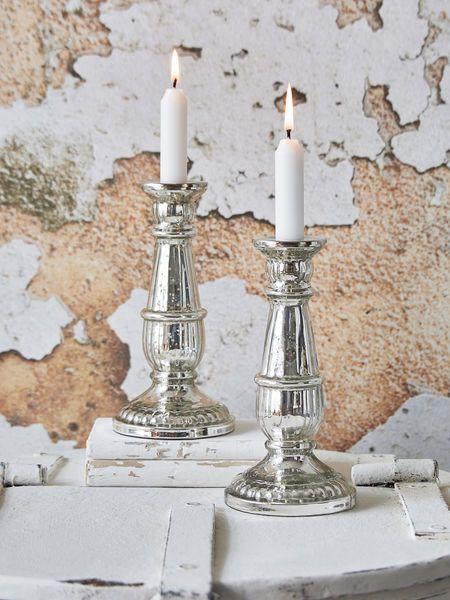 Mercury Silver Candlestick - Design 3