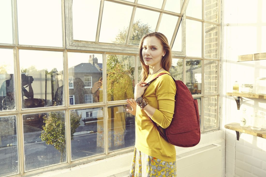 Textured Nylon Chili S | The Healthy Back Bag
