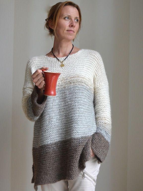 Astrid & Mias LUNGO | Sticka enkel tröja, Stickning mönster