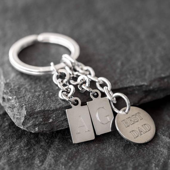 Dad Keychain - Personalized Keychain - Engraved Keychain