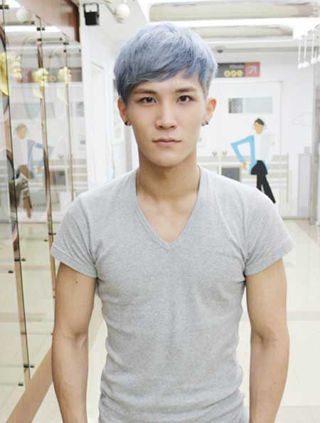 Silver Hair Color Man Hair Asian Cutie Mens Hairstyles Hair