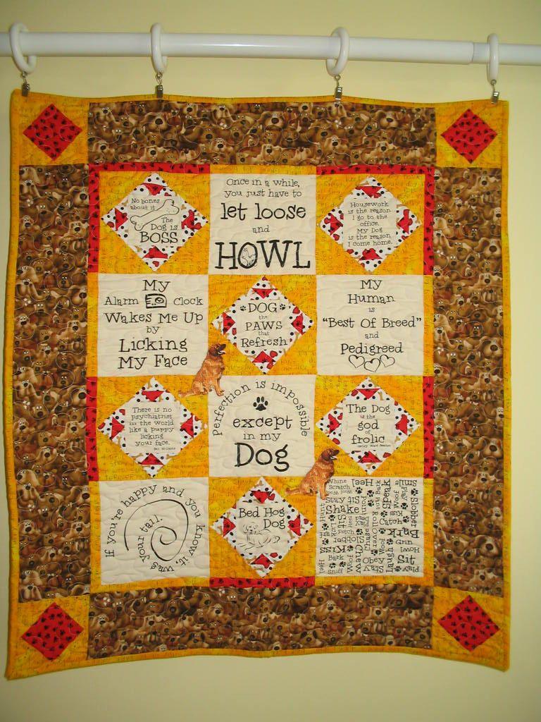 Dog sayings quilt hanging. $35.00, via Etsy.   doggys   Pinterest ...