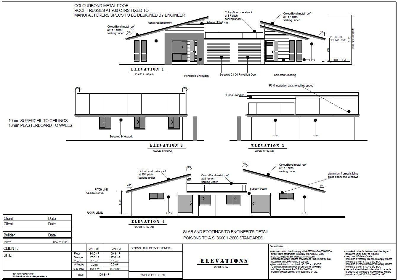 House Plans 2115 Sq Ft 196 M2 5 Bedrooms Duplex Design Modern Duplex Plans Concept Plans Usa Feet Inches Australian Metric Sizes Duplex Design House Plans Family House Plans