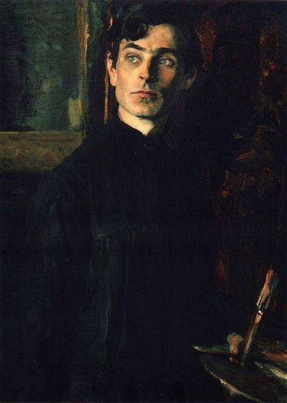 Mikhail Nesterov  Portrait of Pavel Korin, 1925.