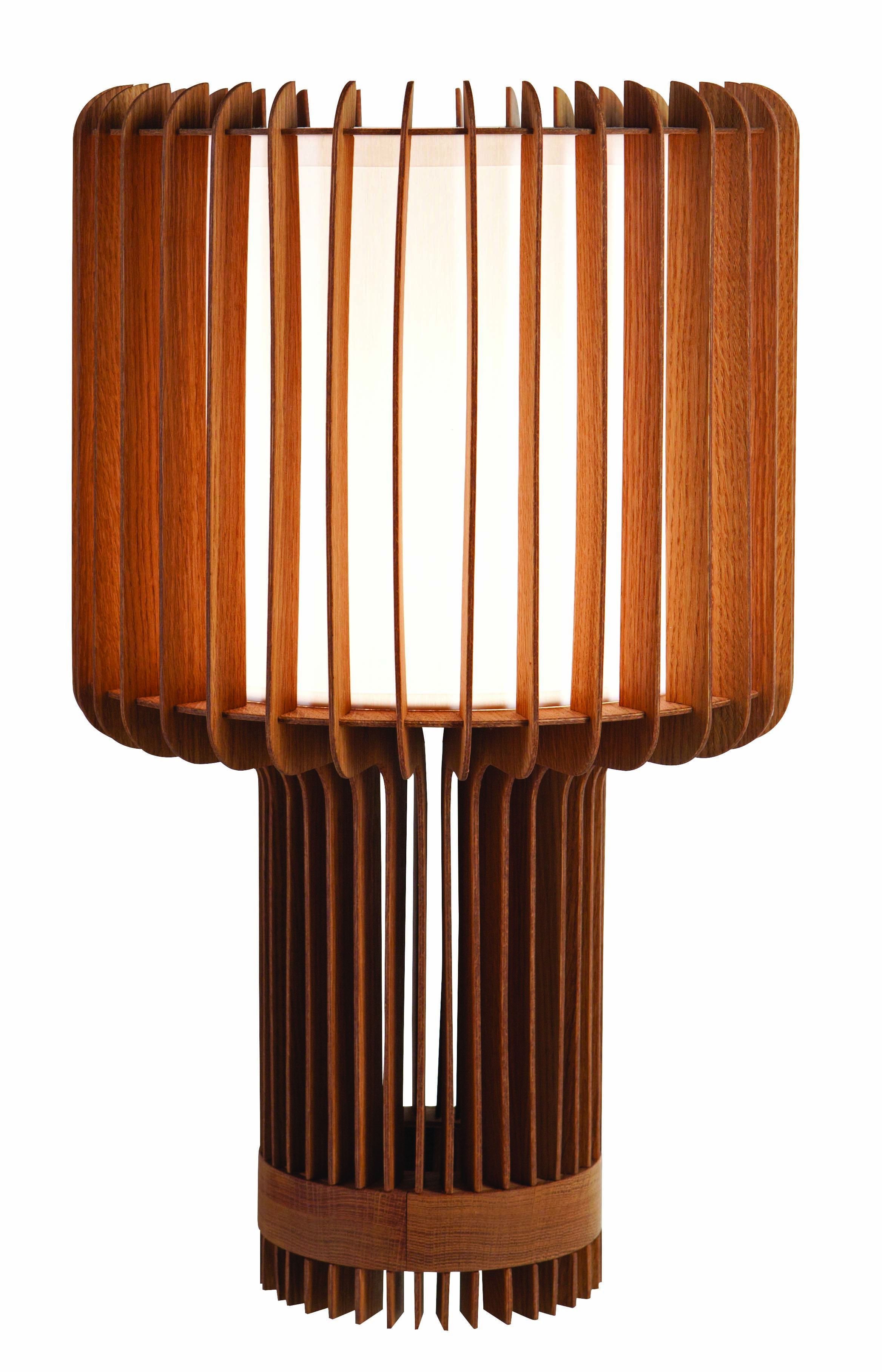 Roche Bobois Turbine Lamp With Oak Structure And White Fabric Shade Design Renaud Thiry Rochebobois Lamp Lighting Oa Lamp Eclectic Lighting Lamp Design