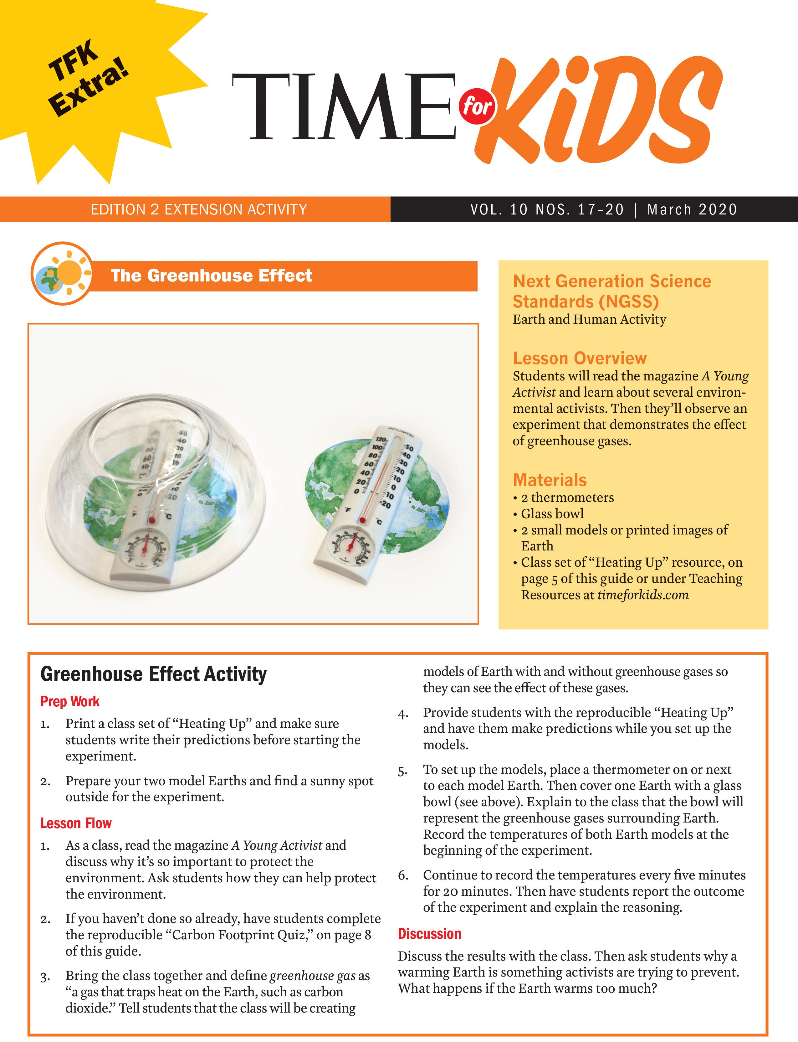 Greenhouse Effect Activity Grade 2 In