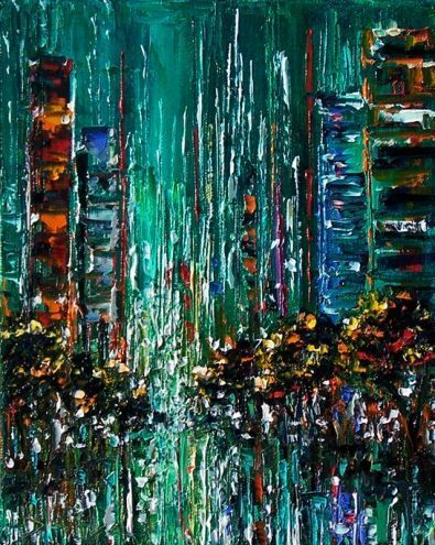 abstract cityscape street scene city art painting by Debra Hurd by artist Debra Hurd on Dail abstract cityscape street scene city art painting by Debra Hurd by artist Deb...