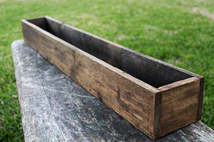40 50 Rustic Planters Box 5 5 75 T Tall Version Review Wood Planters Planter Boxes Wood Planter Box