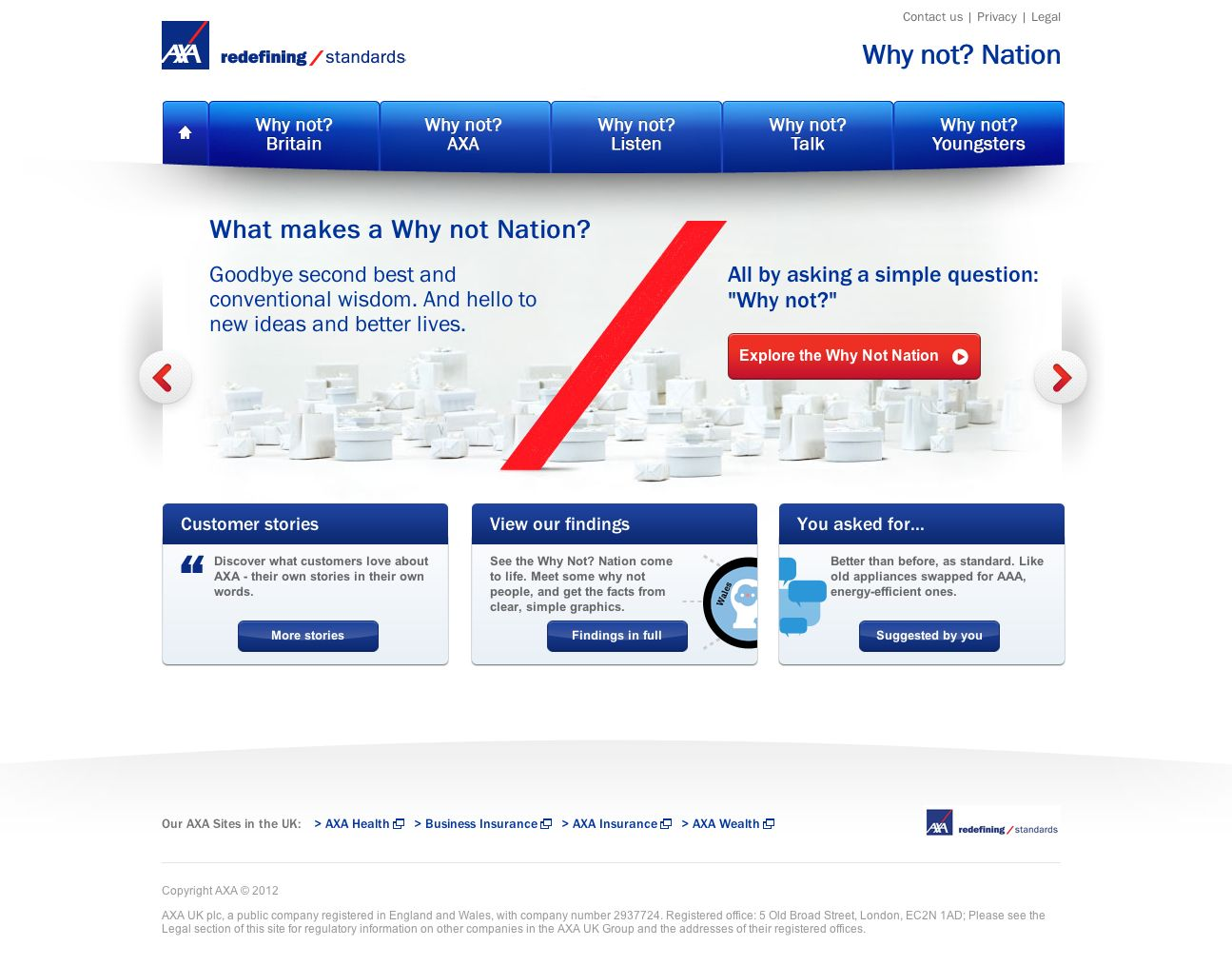 Axa Why Not Building The Why Not Nation The New Axa Uk Why Not Campaign Microsite And Digital Materials