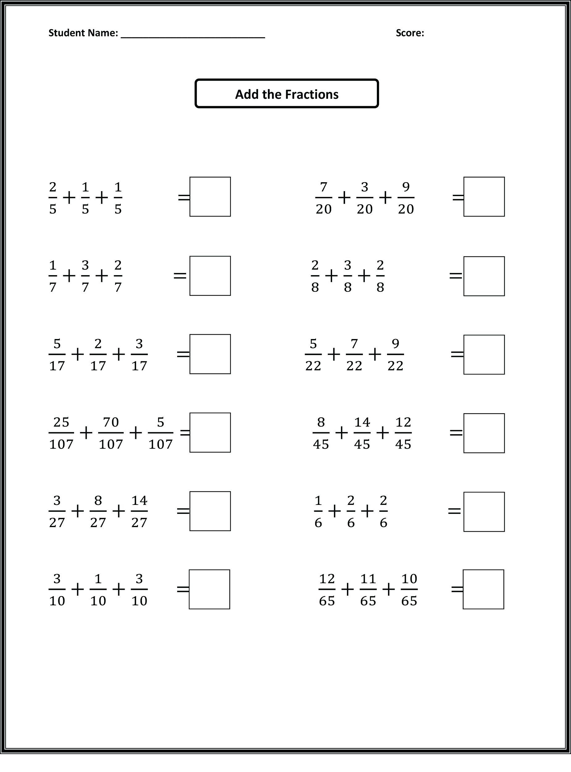 hight resolution of Maths Worksheets For Grade Cbse Practice Class Pdfth Word Problems Board 4  Australia …   Fractions worksheets