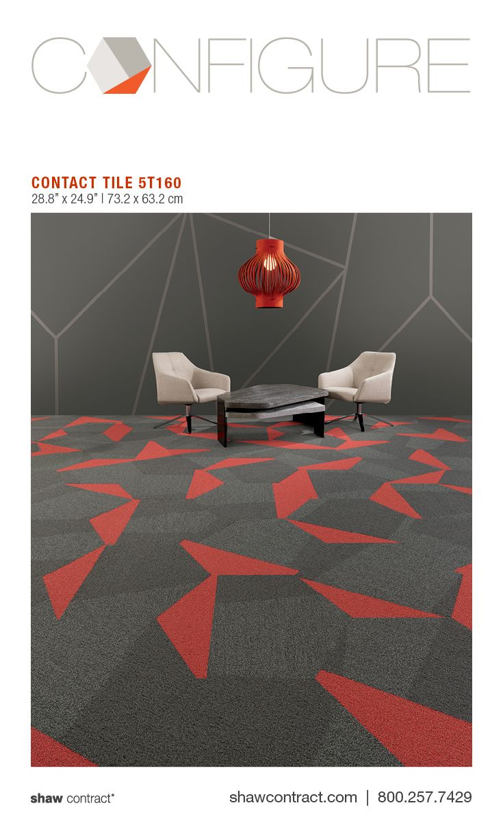 Style - Contact Tile 5T160 - Color - Social Dialogue 59596 - Commercial hexagon carpet tile