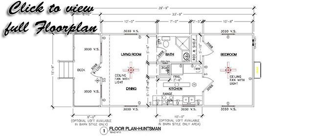 Morgan cabins 16x40 huntsman cabin tiny cabins pinterest for 16x40 cabin plans