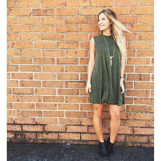 Our acid washed tunic dresses have to be one of our favorite pieces! From comfort to style, you can't go wrong sporting one of these! Shop it in stores for $36 or screenshot and email to info@lotusboutique.com to order