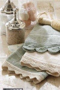 Lace Hand Towel Knitting Pattern