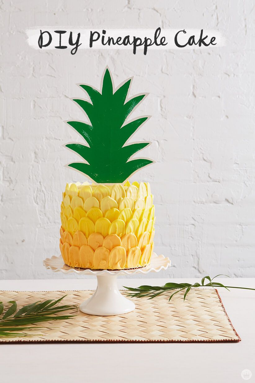 With Summer Here Its The Perfect Time To Make A Deliciously Beautiful Pineapple Cake For Your Next Get Together Follow Our Easy Diy Tutorial To Decorate