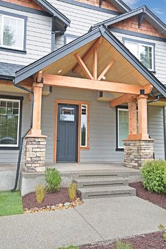 Open Exposed Beam Option Front Porch Upgrade House With Porch Porch Design Exterior Entryway Ideas