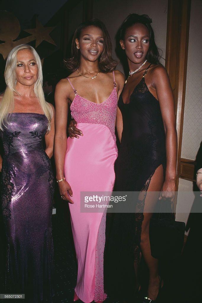 Amato Naomi Campbell, Donatella Versace, And Valerie Morris | Italian  HF43
