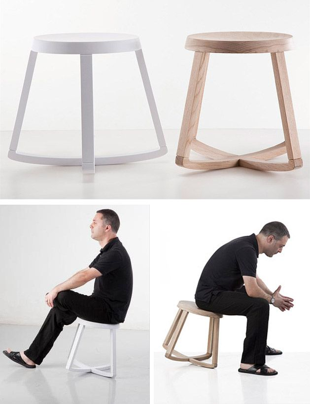 Monarchy Rocking Stool - swivels and rocks backwards and forwards as well as sideways, all the while comfortably supporting your weight. Core workout? Haha.