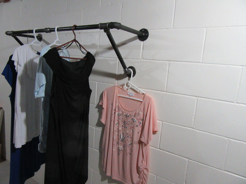 Item 402 1 2 U Bar Plus Clothing Rack Steampunk Industrial Design Wall Mounted Garment Rack Retail Rack Display Rack In 2020 Clothing Rack Garment Racks Plus Clothing