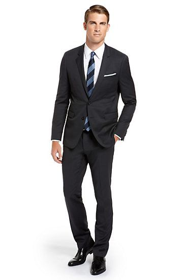 Keep It Simple Should Match Your Shirt Or Tie Wearing Colors Definitely Add Color To Pocket Square Suit Hugo Boss Not Sure What Look