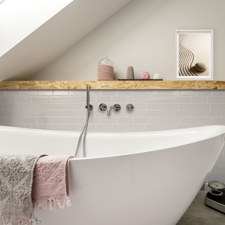 Peel and stick bathroom tiles | Smart Tiles | Home Decor | Pinterest ...