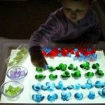 Light adds an extra dimension to many activities. Article includes ideas for play and containing the mess! Pinned by SPD Blogger Network. For more sensory-related pins, see http://pinterest.com/spdbn