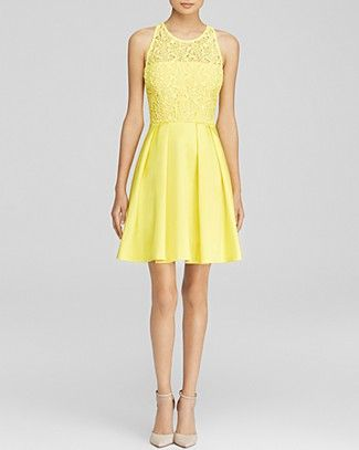 We could never be in a bad mood wearing lace, pleats, and sunshine yellow! #100PercentBloomies